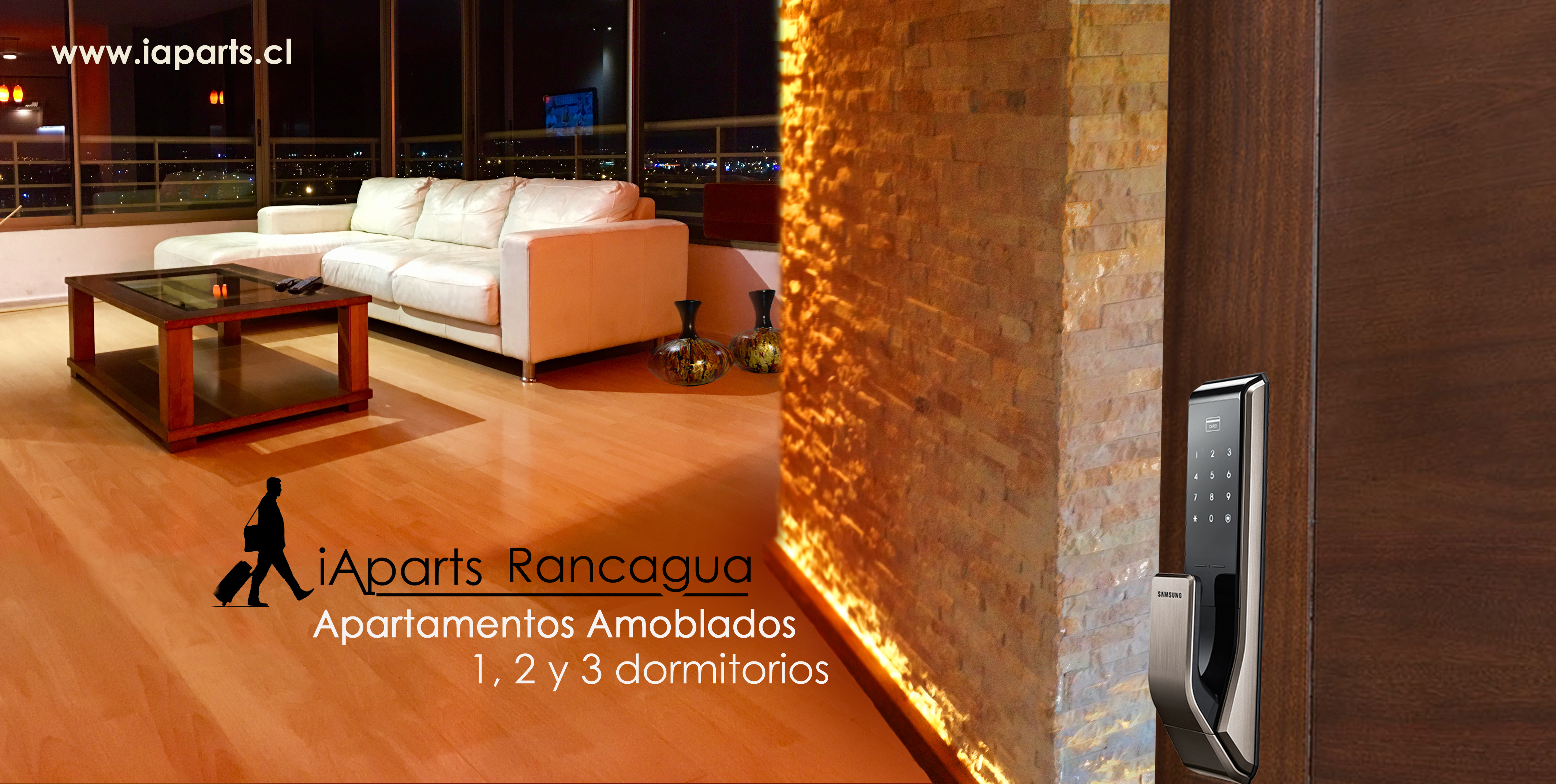 Accommodation in Rancagua, Chile. One, twoo and tree bedrooms apartments.