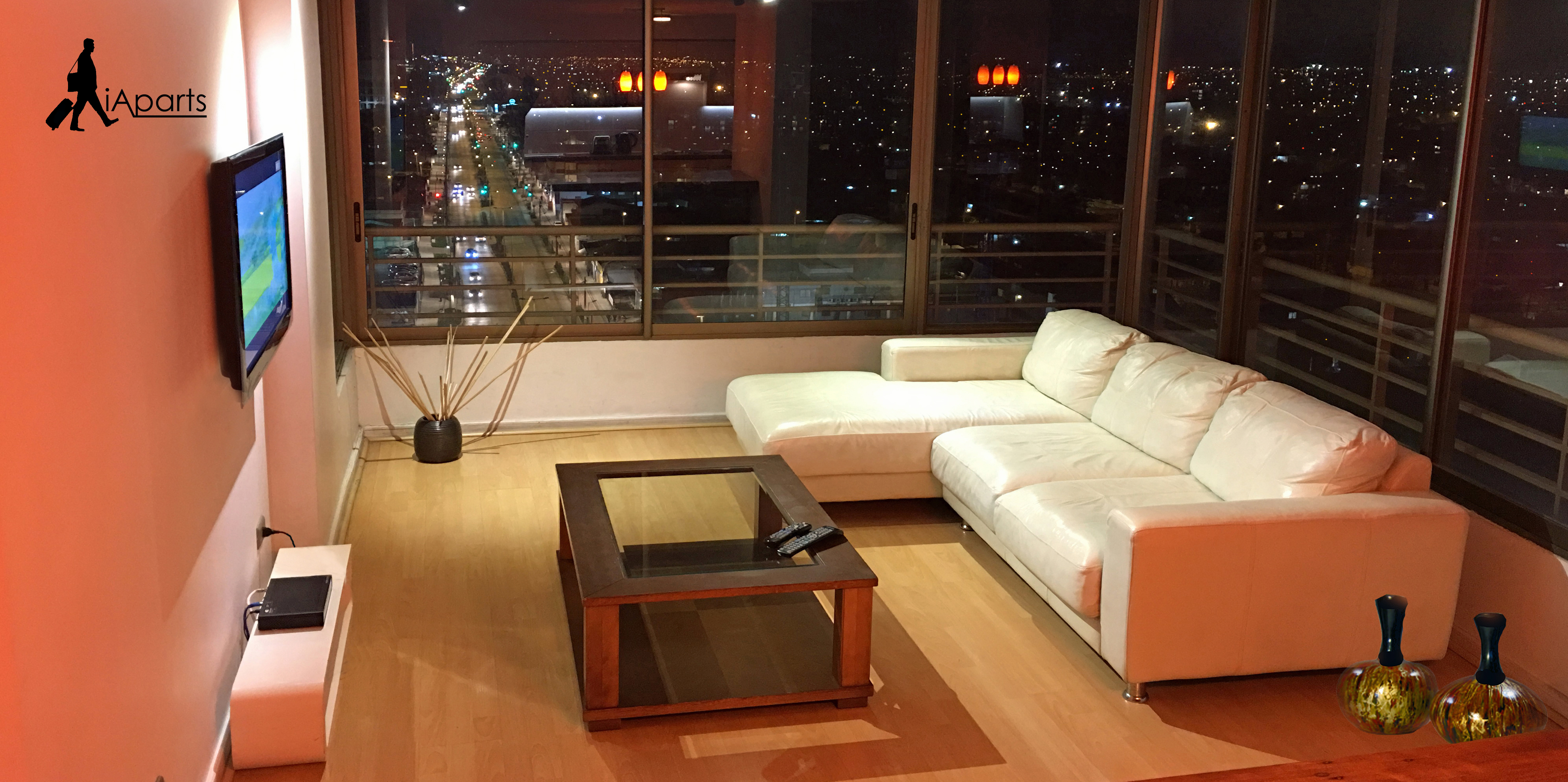 Accommodation in Rancagua, Chile. living room apartment.